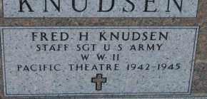 KNUDSEN, FRED H (WWII) - Turner County, South Dakota | FRED H (WWII) KNUDSEN - South Dakota Gravestone Photos