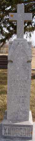 KNUDSON, MARTHA SERINE - Turner County, South Dakota | MARTHA SERINE KNUDSON - South Dakota Gravestone Photos