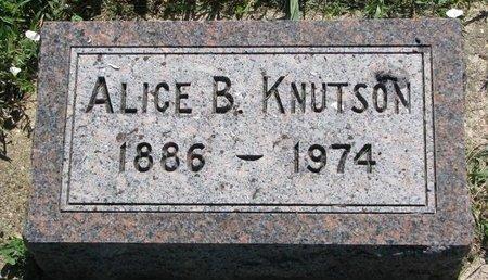 KNUTSON, ALICE B. - Turner County, South Dakota   ALICE B. KNUTSON - South Dakota Gravestone Photos