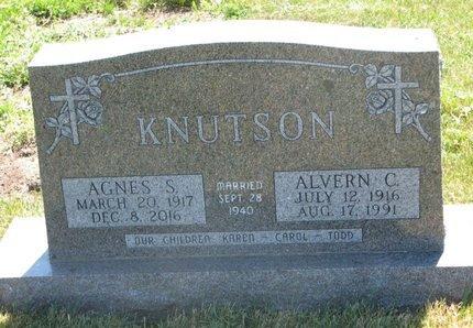 KNUTSON, ALVERN C. - Turner County, South Dakota | ALVERN C. KNUTSON - South Dakota Gravestone Photos