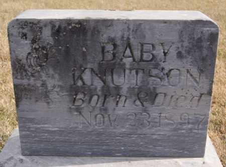 KNUTSON, BABY - Turner County, South Dakota   BABY KNUTSON - South Dakota Gravestone Photos