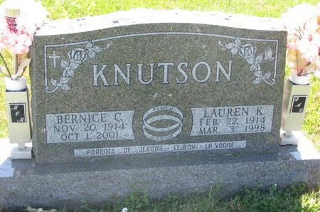 KNUTSON, BERNICE CATHERINE - Turner County, South Dakota | BERNICE CATHERINE KNUTSON - South Dakota Gravestone Photos