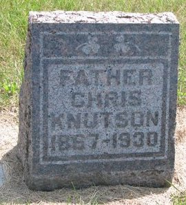 KNUTSON, CHRIS - Turner County, South Dakota | CHRIS KNUTSON - South Dakota Gravestone Photos