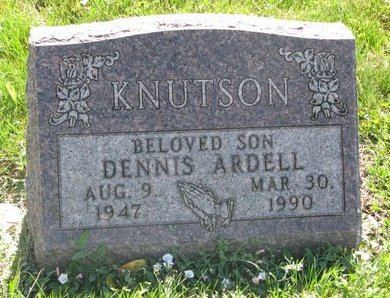 KNUTSON, DENNIS ARDELL - Turner County, South Dakota | DENNIS ARDELL KNUTSON - South Dakota Gravestone Photos