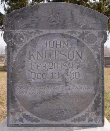 KNUTSON, JOHN - Turner County, South Dakota | JOHN KNUTSON - South Dakota Gravestone Photos