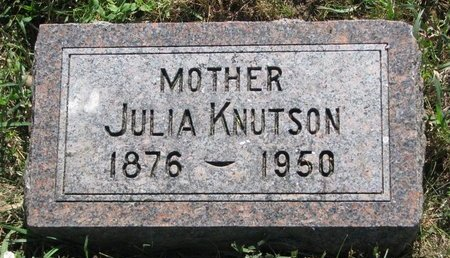 KNUTSON, JULIA - Turner County, South Dakota | JULIA KNUTSON - South Dakota Gravestone Photos