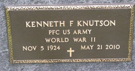KNUTSON, KENNETH F. (MILITARY) - Turner County, South Dakota | KENNETH F. (MILITARY) KNUTSON - South Dakota Gravestone Photos