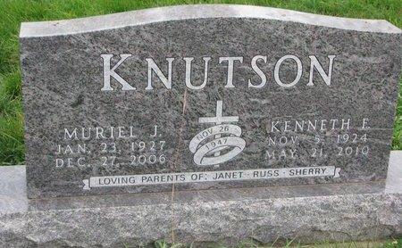 KNUTSON, MURIEL J. - Turner County, South Dakota | MURIEL J. KNUTSON - South Dakota Gravestone Photos