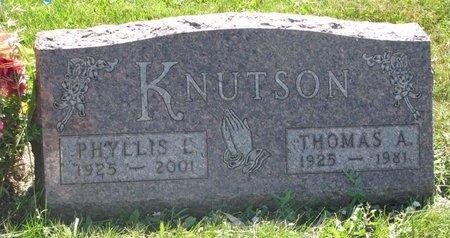 KNUTSON, PHYLLIS L. - Turner County, South Dakota | PHYLLIS L. KNUTSON - South Dakota Gravestone Photos