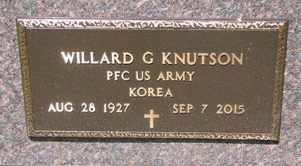 KNUTSON, WILLARD G. (MILITARY) - Turner County, South Dakota | WILLARD G. (MILITARY) KNUTSON - South Dakota Gravestone Photos