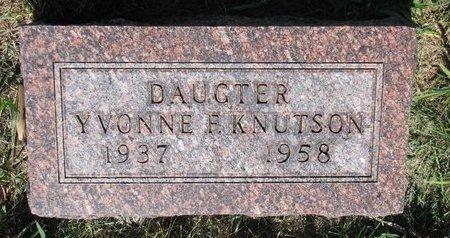 KNUTSON, YVONNE F. - Turner County, South Dakota | YVONNE F. KNUTSON - South Dakota Gravestone Photos