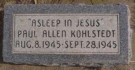 KOHLSTEDT, PAUL ALLEN - Turner County, South Dakota | PAUL ALLEN KOHLSTEDT - South Dakota Gravestone Photos