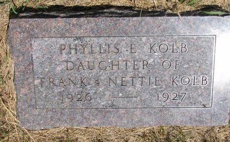 KOLB, PHYLLIS E. - Turner County, South Dakota   PHYLLIS E. KOLB - South Dakota Gravestone Photos