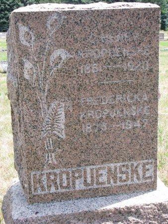 KROPUENSKE, C. HENRY - Turner County, South Dakota | C. HENRY KROPUENSKE - South Dakota Gravestone Photos