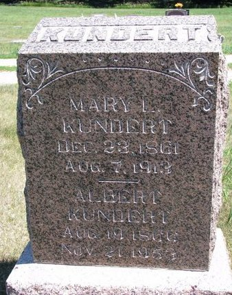 KUNDERT, MARY L. - Turner County, South Dakota | MARY L. KUNDERT - South Dakota Gravestone Photos