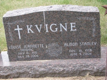 KVIGNE, LOUISE JEANNETTE I. - Turner County, South Dakota   LOUISE JEANNETTE I. KVIGNE - South Dakota Gravestone Photos