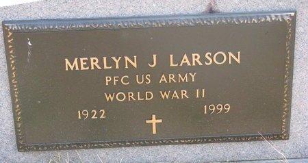 LARSON, MERLYN J. (MILITARY) - Turner County, South Dakota   MERLYN J. (MILITARY) LARSON - South Dakota Gravestone Photos