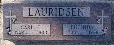 LAURIDSEN, CARL C - Turner County, South Dakota | CARL C LAURIDSEN - South Dakota Gravestone Photos