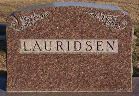 LAURIDSEN, FAMILY MARKER - Turner County, South Dakota | FAMILY MARKER LAURIDSEN - South Dakota Gravestone Photos