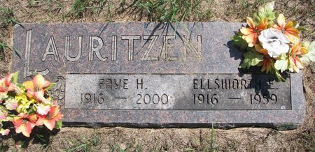 LAURITZEN, ELLSWORTH ELRED - Turner County, South Dakota | ELLSWORTH ELRED LAURITZEN - South Dakota Gravestone Photos