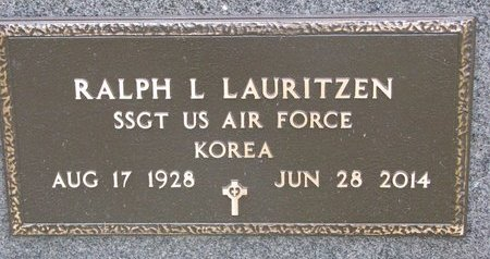 LAURITZEN, RALPH L. (MILITARY) - Turner County, South Dakota | RALPH L. (MILITARY) LAURITZEN - South Dakota Gravestone Photos