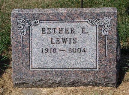 LEWIS, ESTHER E. - Turner County, South Dakota | ESTHER E. LEWIS - South Dakota Gravestone Photos