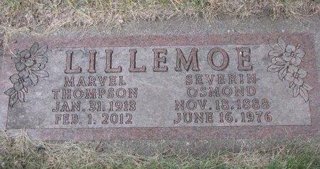 LILLEMOE, SEVERIN OSMOND - Turner County, South Dakota | SEVERIN OSMOND LILLEMOE - South Dakota Gravestone Photos
