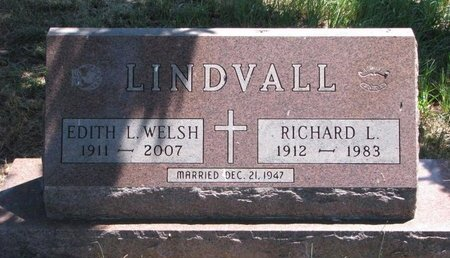 WELSH LINDVALL, EDITH L. - Turner County, South Dakota | EDITH L. WELSH LINDVALL - South Dakota Gravestone Photos