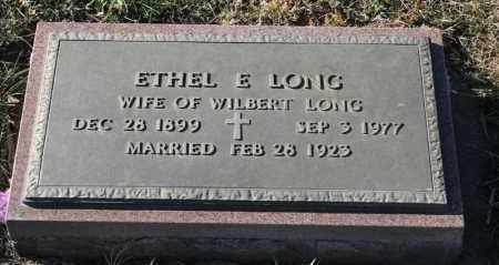 LONG, ETHEL E - Turner County, South Dakota | ETHEL E LONG - South Dakota Gravestone Photos