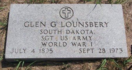 LOUNSBERY, GLEN G. (MILITARY) - Turner County, South Dakota | GLEN G. (MILITARY) LOUNSBERY - South Dakota Gravestone Photos