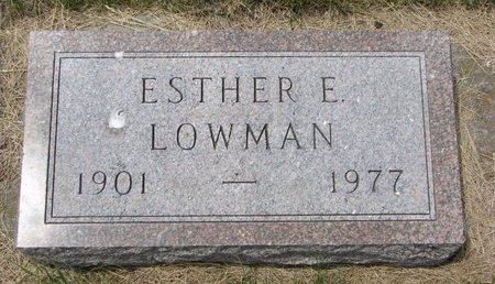 RIST LOWMAN, ESTHER E. - Turner County, South Dakota | ESTHER E. RIST LOWMAN - South Dakota Gravestone Photos