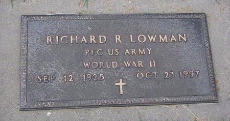 LOWMAN, RICHARD R. - Turner County, South Dakota | RICHARD R. LOWMAN - South Dakota Gravestone Photos