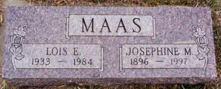 MAAS, LOIS E - Turner County, South Dakota | LOIS E MAAS - South Dakota Gravestone Photos