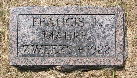 MAHRE, FRANCIS L. - Turner County, South Dakota | FRANCIS L. MAHRE - South Dakota Gravestone Photos