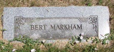 "MARKHAM, WILLIAM A. ""BERT"" (FOOT STONE) - Turner County, South Dakota | WILLIAM A. ""BERT"" (FOOT STONE) MARKHAM - South Dakota Gravestone Photos"
