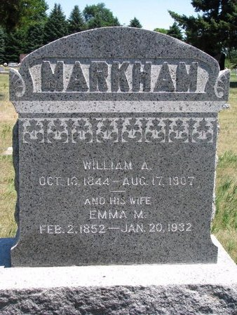 "MARKHAM, WILLIAM A. ""BERT"" - Turner County, South Dakota 