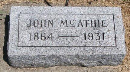 MCATHIE, JOHN - Turner County, South Dakota | JOHN MCATHIE - South Dakota Gravestone Photos