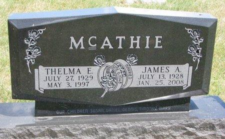 MCATHIE, THELMA E. - Turner County, South Dakota   THELMA E. MCATHIE - South Dakota Gravestone Photos