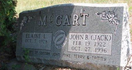 MCCART, ELAINE L. - Turner County, South Dakota   ELAINE L. MCCART - South Dakota Gravestone Photos