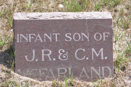 MCFARLAND, INFANT SON - Turner County, South Dakota | INFANT SON MCFARLAND - South Dakota Gravestone Photos