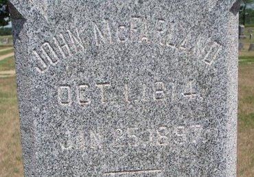 MCFARLAND, JOHN (CLOSE UP) - Turner County, South Dakota | JOHN (CLOSE UP) MCFARLAND - South Dakota Gravestone Photos