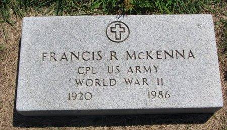 MCKENNA, FRANCIS R. - Turner County, South Dakota | FRANCIS R. MCKENNA - South Dakota Gravestone Photos