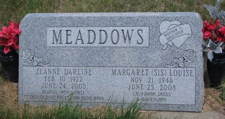 "MEADDOWS, MARGARET LOUISE ""SIS"" - Turner County, South Dakota 