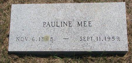 MEE, PAULINE - Turner County, South Dakota | PAULINE MEE - South Dakota Gravestone Photos