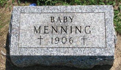 MENNING, BABY - Turner County, South Dakota | BABY MENNING - South Dakota Gravestone Photos
