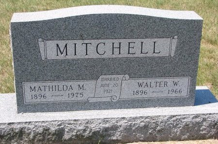 MITCHELL, MATHILDA M. - Turner County, South Dakota | MATHILDA M. MITCHELL - South Dakota Gravestone Photos
