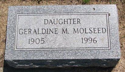 MOLSEED, GERALDINE M. - Turner County, South Dakota | GERALDINE M. MOLSEED - South Dakota Gravestone Photos