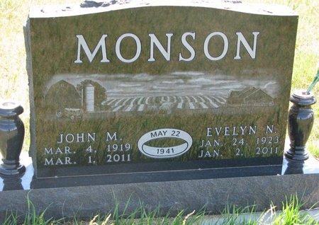 MONSON, EVELYN NAOMI - Turner County, South Dakota | EVELYN NAOMI MONSON - South Dakota Gravestone Photos