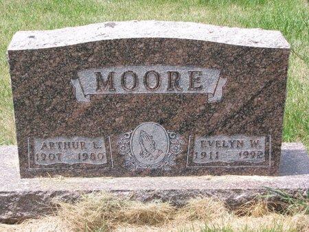 MOORE, EVELYN W. - Turner County, South Dakota | EVELYN W. MOORE - South Dakota Gravestone Photos