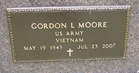 MOORE, GORDON L. (MILITARY) - Turner County, South Dakota | GORDON L. (MILITARY) MOORE - South Dakota Gravestone Photos